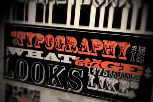 Typography in motion - video ispirazione