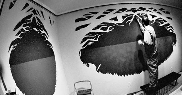Jeremy Fish Mural in Progress