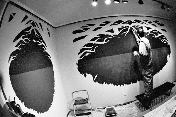 Jeremy Fish Mural in Progress