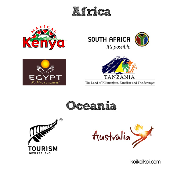 National tourism logos anthology