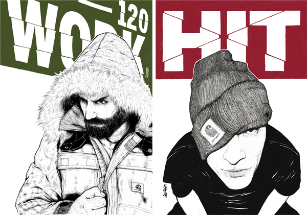Carhartt Campaign Illustrations by Marco Klefisch