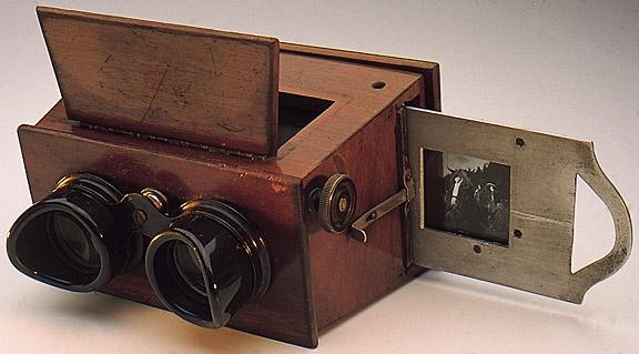 Stereoscopio visore a binocolo 1