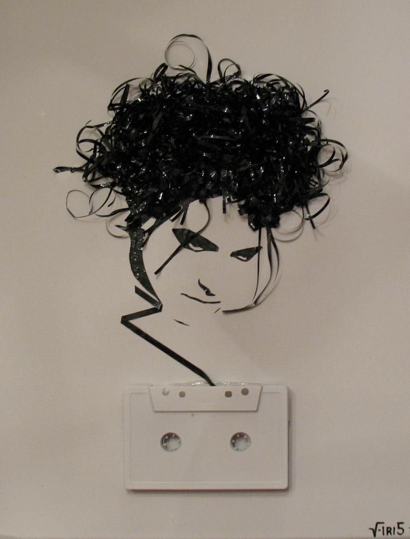 Music tape portraits by Erika