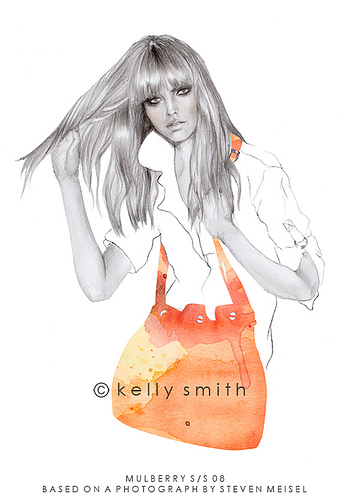 Super-fashion illustrations by Kelly Smith