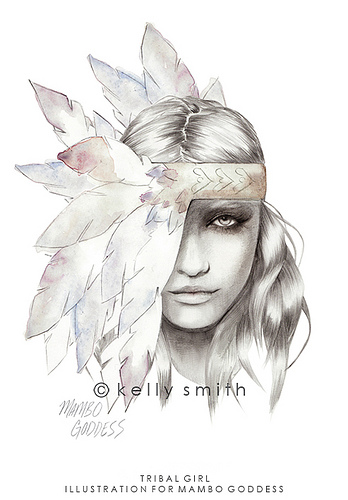 Super fashion illustrations by Kelly Smith