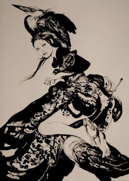 Dark Gothic Illustrations by Vania Zouravliov