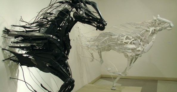 Sayaka's recycled sculptures