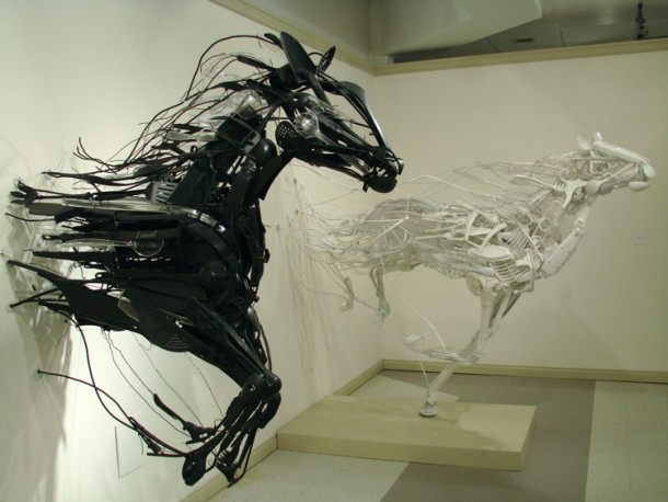 Sayaka's recycled sculpturesSayaka's recycled sculptures