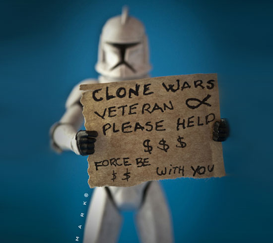 clone veteran The secret life of Star Wars toys
