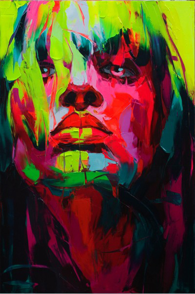 Francoise Nielly's colorful portraitsFrancoise Nielly's colorful portraits