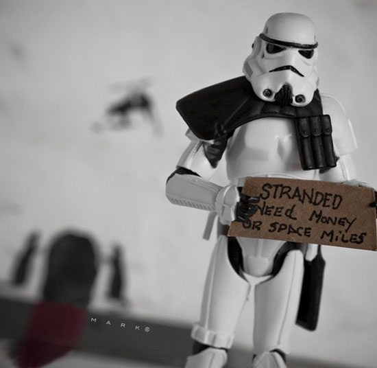 stormtrooper need money The secret life of Star Wars toys