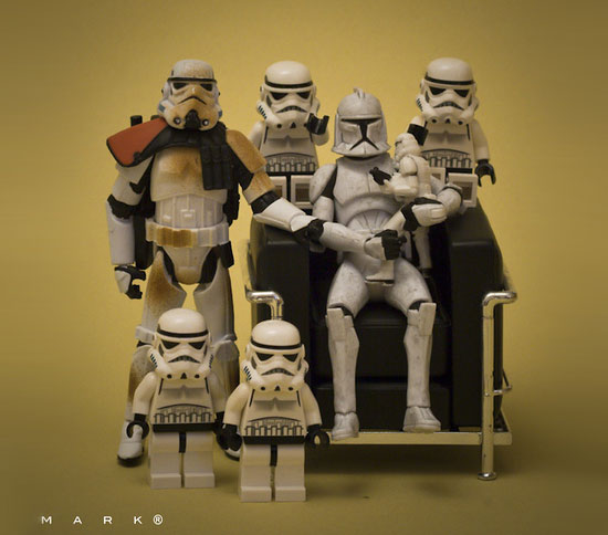 stortrooper family The secret life of Star Wars toys