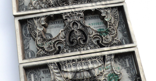 Scott Campbell&#039;s lasercut money