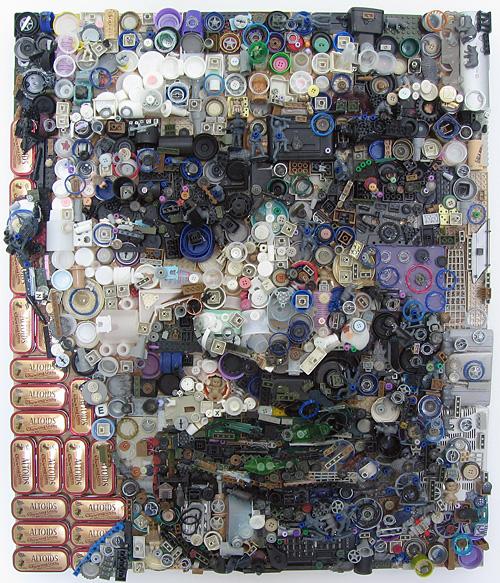 Junk Portraits by Zac Freeman