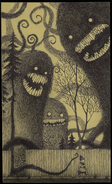 John Kenns monsters on Post it