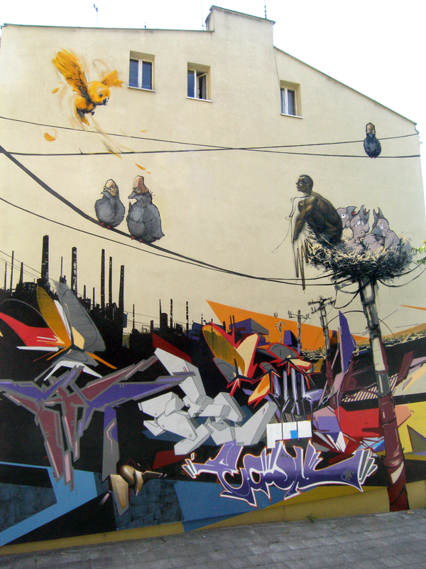 Graffiti and paintings from Przemek Blejzyk