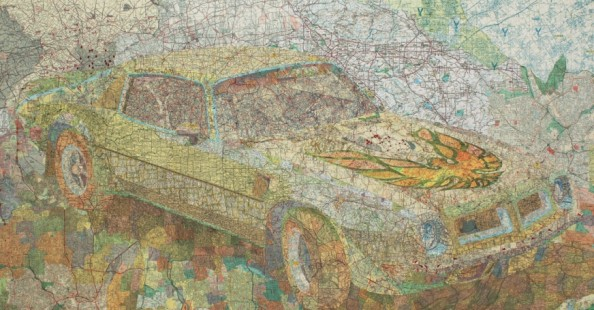 Map Collages by Matthew CusickMap Collages by Matthew Cusick