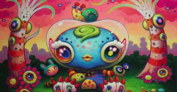 Yoko D'Holbachie psychedelic kawaii art