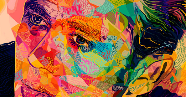 Colorful portraits by Alessandro PautassoColorful portraits by Alessandro Pautasso