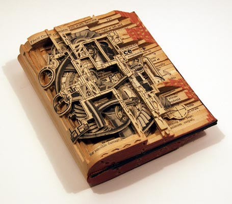 Brian Dettmers Book Sculptures