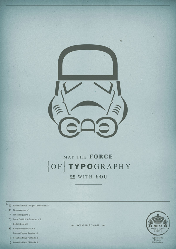 May the force of Typography be with yoMay the force of Typography be with you