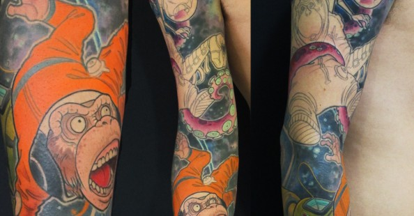 Stunning sleeves by HumanFly Tattoo StudioStunning sleeves by HumanFly Tattoo Studio
