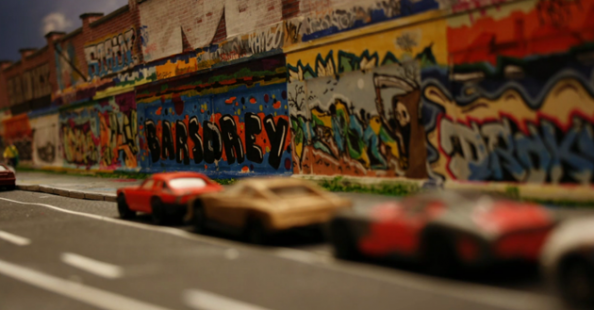 Miniature Stop Motion Graffiti