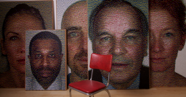 Eric Daigh's pushpins portraitsEric Daigh's pushpins portraits