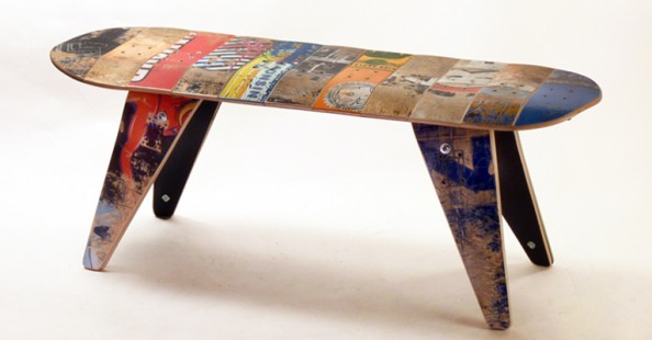 Recycled Skateboard Furniture by DeckstoolRecycled Skateboard Furniture by Deckstool