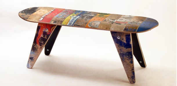 Recycled Skateboard Furniture - Home Design