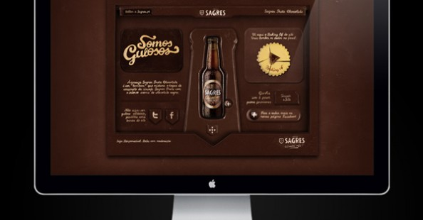 Sagres Preta, website made of chocolate