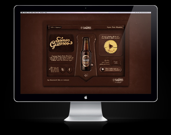 Sagres Preta, website made of chocolateSagres Preta, website made of chocolate