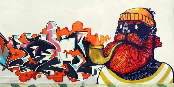 Street Art by Saian Street Art by Saian