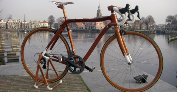 Wooden Bicycles by Sueshiro Sano