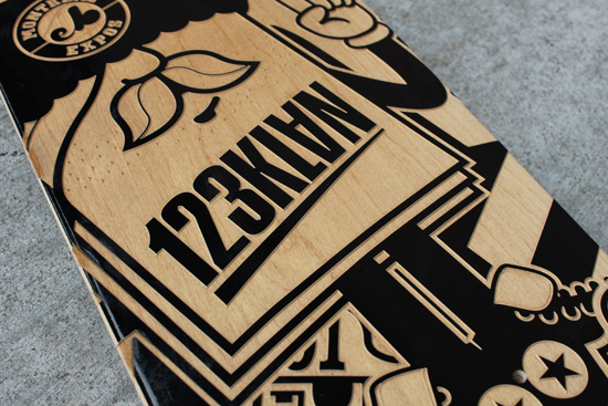 123KLAN Engraved Sk8 Boards123KLAN Engraved Sk8 Boards