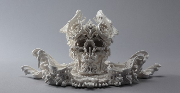 Porcelain skulls by Katsuyo Aoki