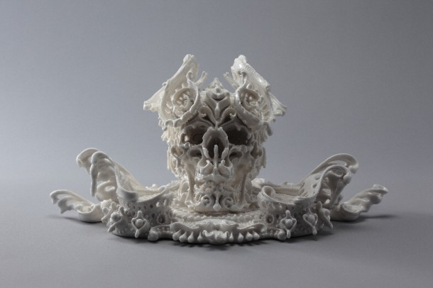 Porcelain skulls by Katsuyo AokiPorcelain skulls by Katsuyo Aoki