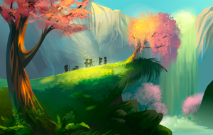 Create a Magical Vector Landscape Using Illustrator