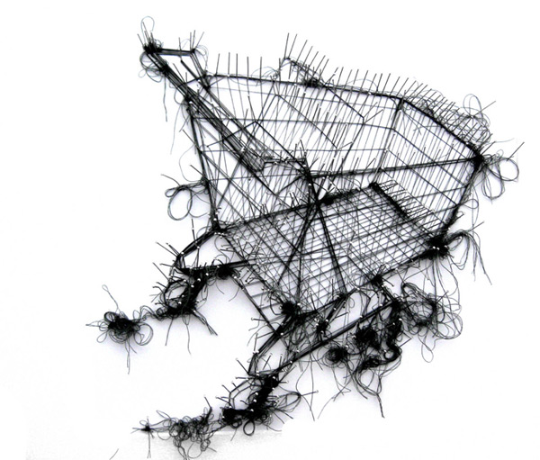 Drawings in thread by Debbie Smyth