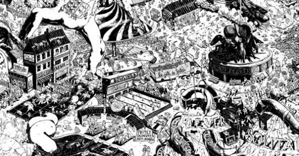 Super detailed illustrations by Ugo GattoniSuper detailed illustrations by Ugo Gattoni