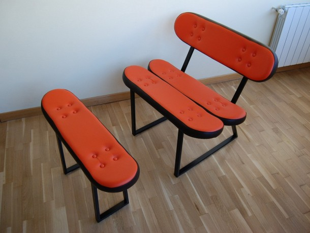 Skateboard furniture by Skate-Home