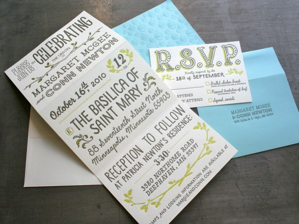 30 Uniquely Designed Wedding Invitations