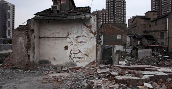 Vhils in Shanghai