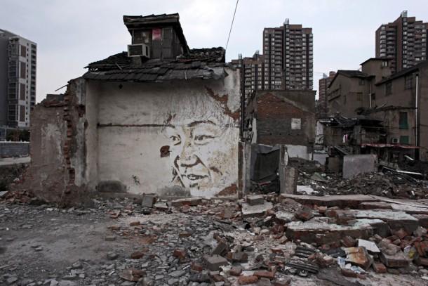Vhils in ShanghaiVhils in Shanghai