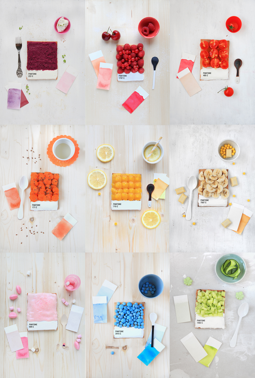 Choose your colors | Pantone tarts by Griottes