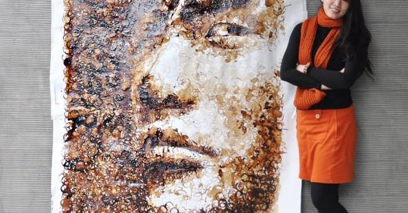 Jay Chou Coffee Stain Portrait Jay Chou Coffee Stain Portrait