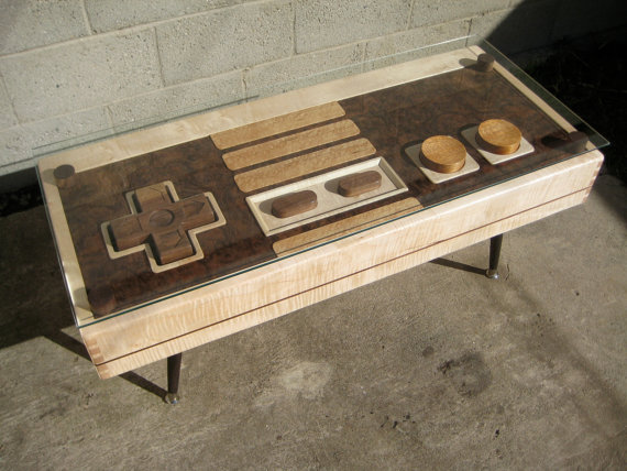 Working Nintendo NES controller coffee table