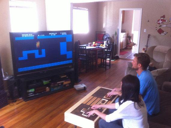 Working Nintendo NES controller coffee table