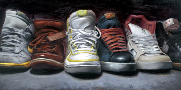 Sneakers oil paintings by Joe DeLorenzoSneakers oil paintings by Joe DeLorenzo