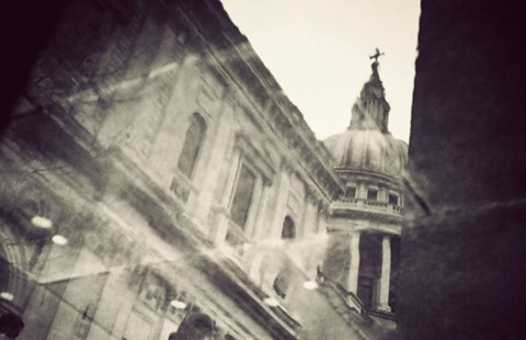 London in Puddles - Beautiful Lomo Photography